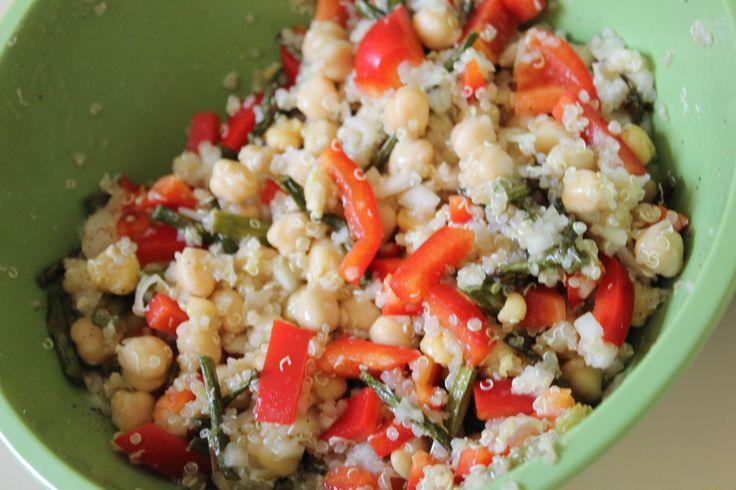 Asparagus and Quinoa Salad! | Toy Kitchen Chef Recipes | Pinterest