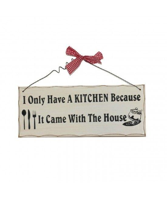 Placuta decorativa I only have a kitchen   Pret:39lei  #ideicadouriamuzante  #cadouripentrucasa