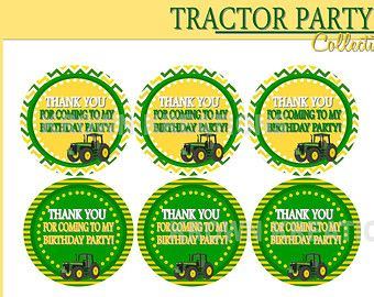 TRACTOR Party - Thank you Tags - Farm Party - Boy Birthday- Party Printables - Man - Men - Krown Kreations - INSTANT Download