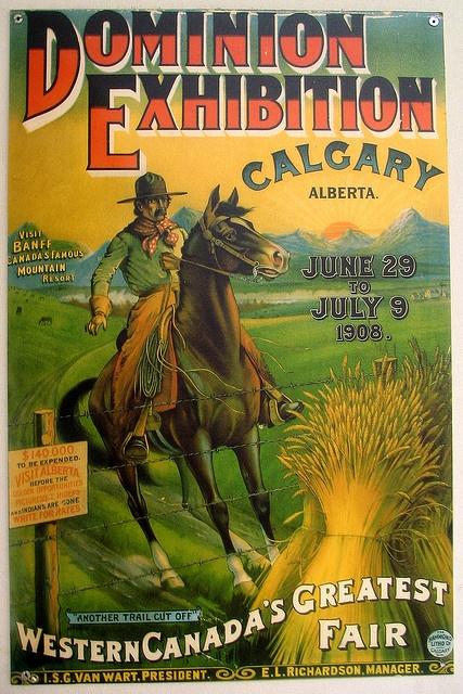 Calgary Stampede poster, 1908