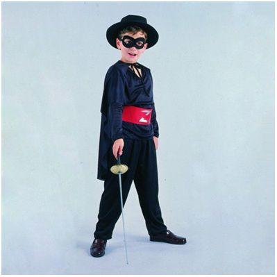 Homemade Zorro Costume for Halloween