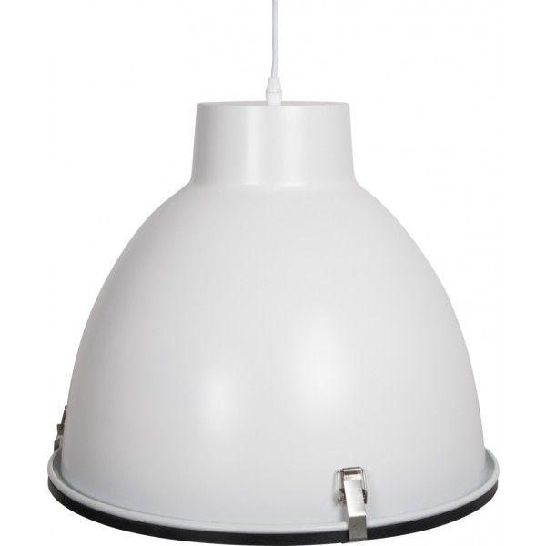 Industriële hanglamp mat wit - voor boven eettafel, zonder glas ...