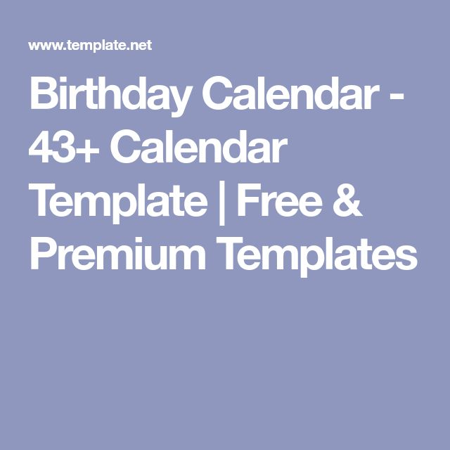 Best 25+ Blank calendar template ideas on Pinterest Free blank - sample birthday calendar
