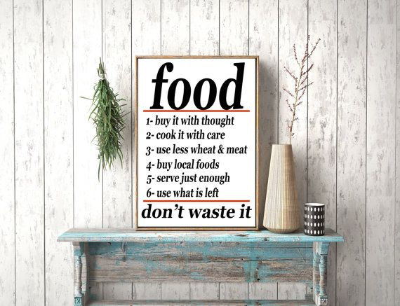 Instant download Food Don't waste it Vintage by photoplasticon