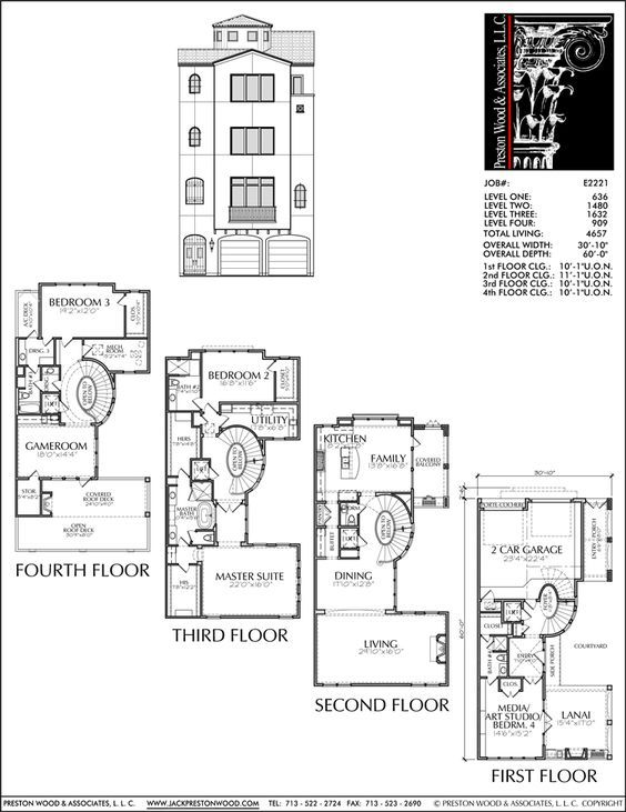 56 best 4 story th plan images on pinterest floor plans for Small townhouse plans