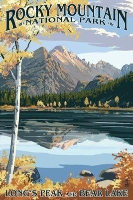 Longs Peak & Bear Lake  - Rocky Mountain National Park - Lantern Press