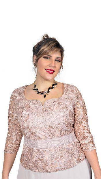 9b14dfb85e Vestido longo Plus Size com corpete em Renda – Moda Maior Plus Size