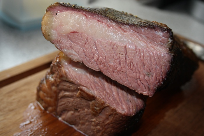 Brisket roasted at 60 degrees for 24 hours. So tender and moist!