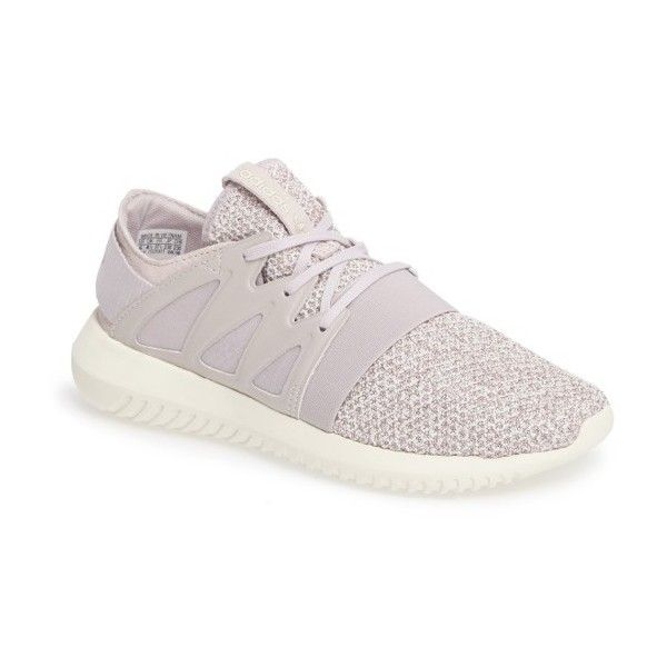 Women's Adidas Tubular Viral Knit Sneaker ($100) ❤ liked on Polyvore featuring shoes, sneakers, knit shoes, strappy shoes, adidas trainers, strap sneakers and twisted shoes