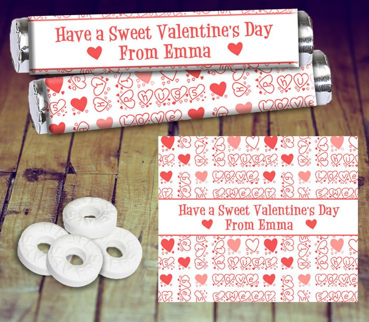 Valentine's Candy Wrapper - Mint Candy Wrapper, Valentine Mint Wrapper, Lifesaver Candy Wrapper, Valentine Teacher Gift, Printable Valentine by LittlePrintsOttawa on Etsy