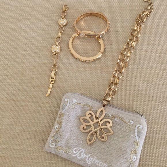 Brighton jewelry Various gold bangles & necklace Brighton Jewelry Bracelets