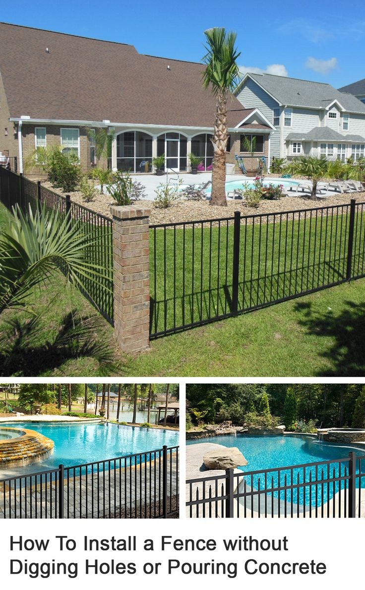 Save money installing your own fence these are a few of my favourite things pinterest for How to build a swimming pool fence