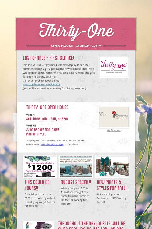 My Thirty-One Launch Party!!!!!