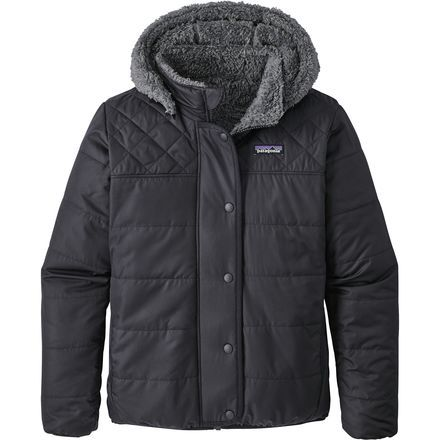 When it comes to staying stylish and comfortable in the city, look no further than the Patagonia Girls' Reversible Dream Song Hooded Down Jacket. Offering the best of both worlds, the Dream Song features a dual-nature personality, showcasing a quilted shell (complete with DWR treatment) on one side, with a high-pile fleece lining on the other. And, to top it off, Patagonia added a layer of synthetic Thermogreen insulation, which ensures you stay warm—even when wet.