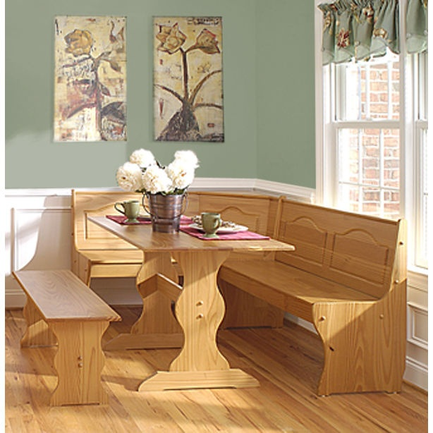 Delighful Kitchen Table With Corner Bench For Ideas