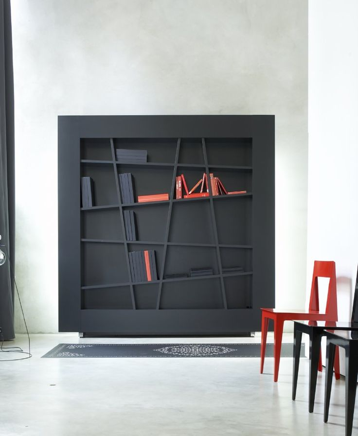Lines by Peter Maly -   The Lines collection is the embodiment of modern and minimalist design. The elements - a bookshelf and sideboards - feature a uniquely patterned interlocking grid of broken lines.