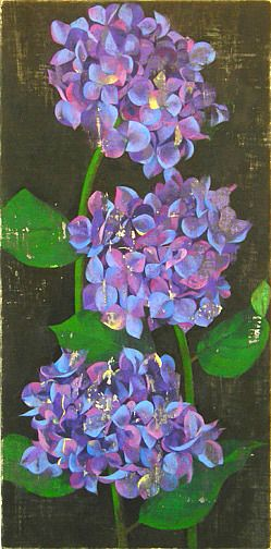 ZsaZsa Bellagio: Art, Art Watercolor, Shades Of Purple, Floral Paintings, Art Projet, Amiryani Hydrangeas, Artsy Fartsi, Beautiful Art, Purple And Blue