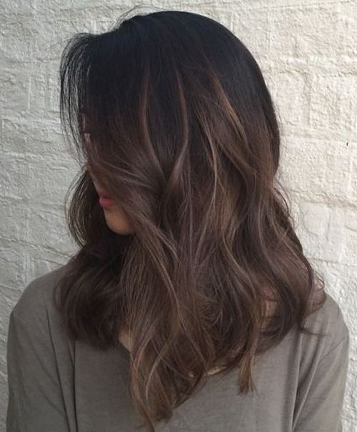 Cute Balayage Brunette Medium Hairstyles for Women