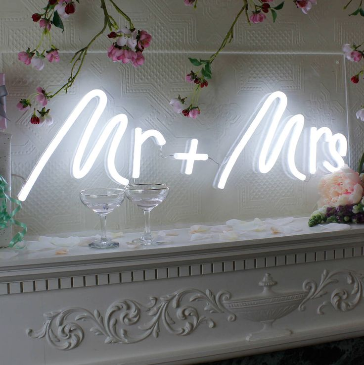 Mr And Mrs Wedding LED Neon Light Up Sign Neon wedding