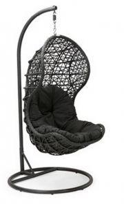 Подвесное кресло купить из ротанга CAND BLACK