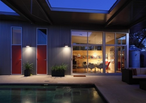 17 best images about corrugated metal siding on pinterest for Modern house siding solutions