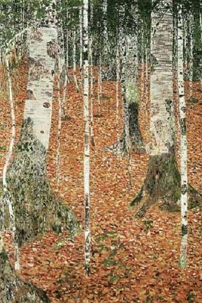 Gustav Klimt, Birch Forest I (detail), 1903. Oil on canvas.