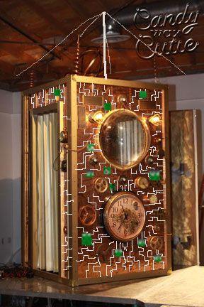 Design Idea For Time Machine Circuit Board Reflective