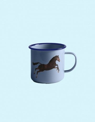 Metal Enamel Mug - HORSE