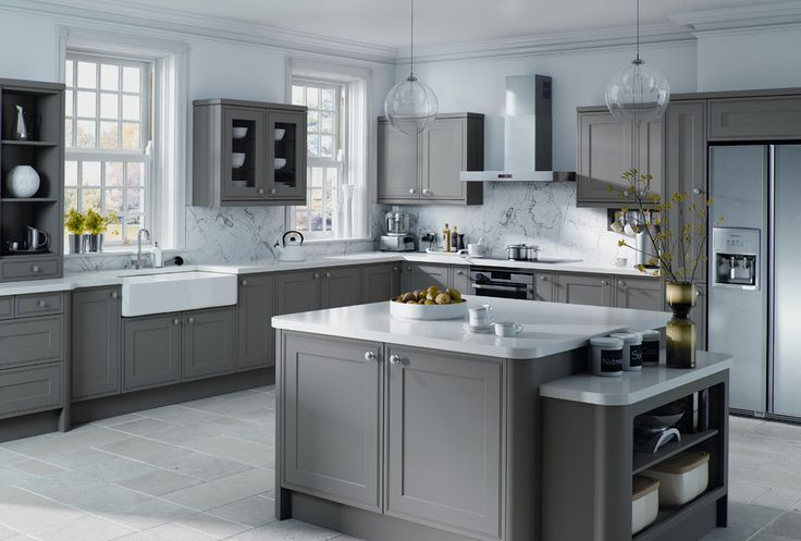 #stone #grey #solid #kitchen #design #decor #style #furniture