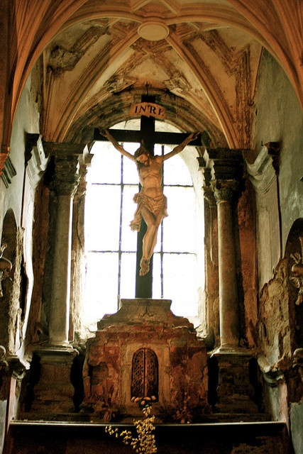 """""""Never let your home be without a crucifix upon its walls, to the end that all who enter it may know that you are a disciple of a Crucified Lord, and that you are not ashamed to own it."""" — Saint Jean Vianney, Catechism on Home Life"""