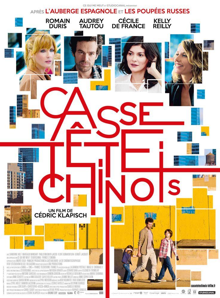 Casse-tête chinois est un film de Cédric Klapisch avec Romain Duris, Audrey Tautou. Synopsis : Xavier a maintenant 40 ans. On le retrouve avec Wendy, Isabelle et Martine quinze ans après L'Auberge Espagnole et dix