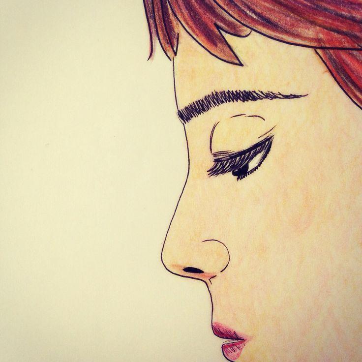 Ilustración a lápiz y tinta.