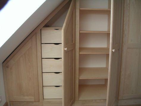 armoire sous pente idees pinterest armoire sous pente armoires et essayer. Black Bedroom Furniture Sets. Home Design Ideas
