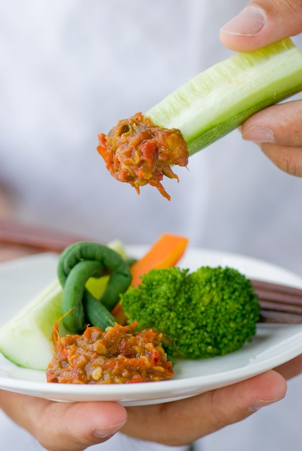 Indonesian Food. Sambal Belacan. Spicy Shrimp Paste Dip. #Indonesian recipes #Indonesian cuisine #Asian recipes #Asian cuisine http://indostyles.com/
