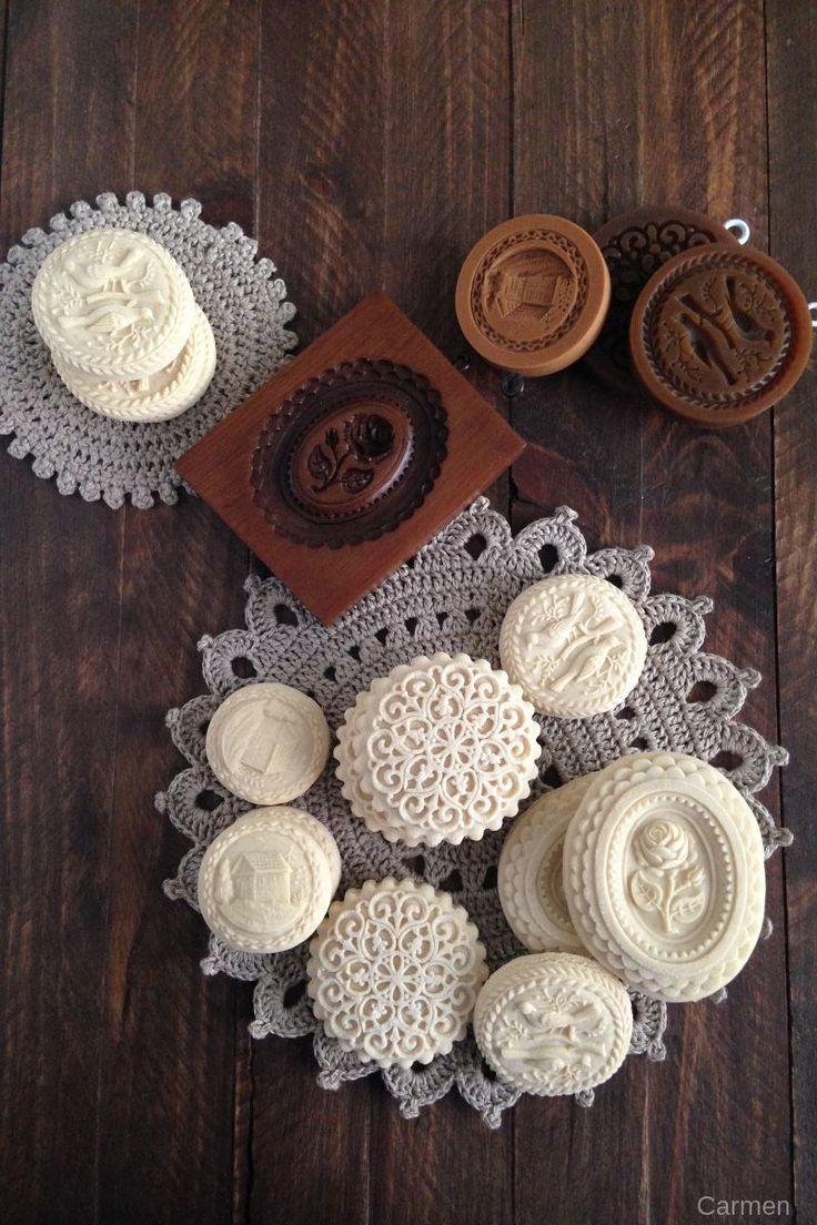 Galletas Springerle ~ very detailed and deep patterns, Springerle #cookies