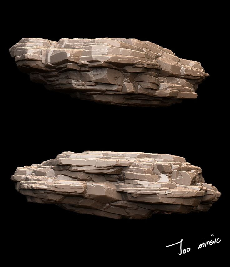 Modular Rock - Zbrush, Minsic Joo on ArtStation at https://www.artstation.com/artwork/modular-rock-zbrush
