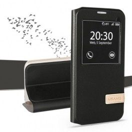 Samsung Galaxy S7 musta ikkunakuori.