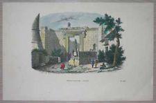 1843 Breton print TEMPLE OF AUGUSTUS AND ROME, ANGORA ANKARA, TURKEY (#48)