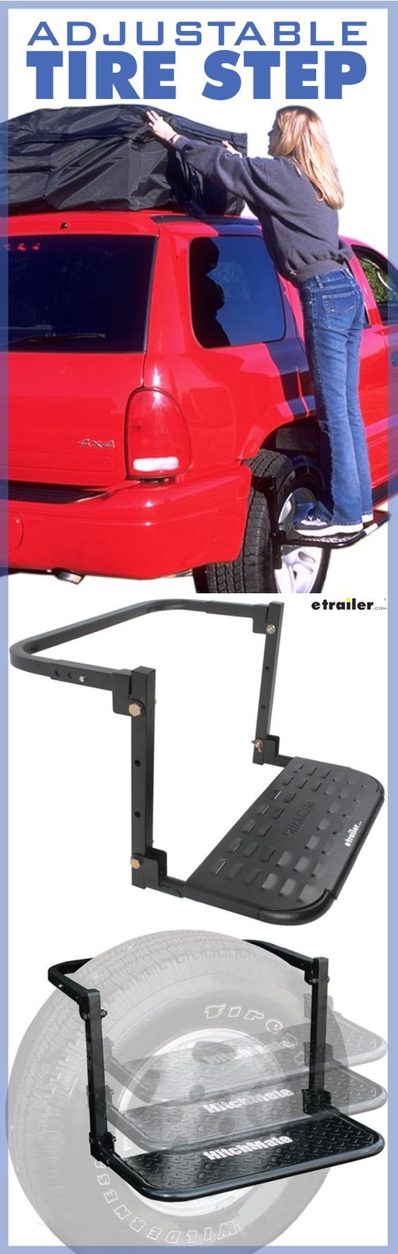 This hitch step is a great gift for under $50. It provides a sturdy platform so that you can step up to reach your roof-mounted cargo carrier, wash your windshield, work under your hood and more. Designed for SUVs, motor homes and light-duty trucks.