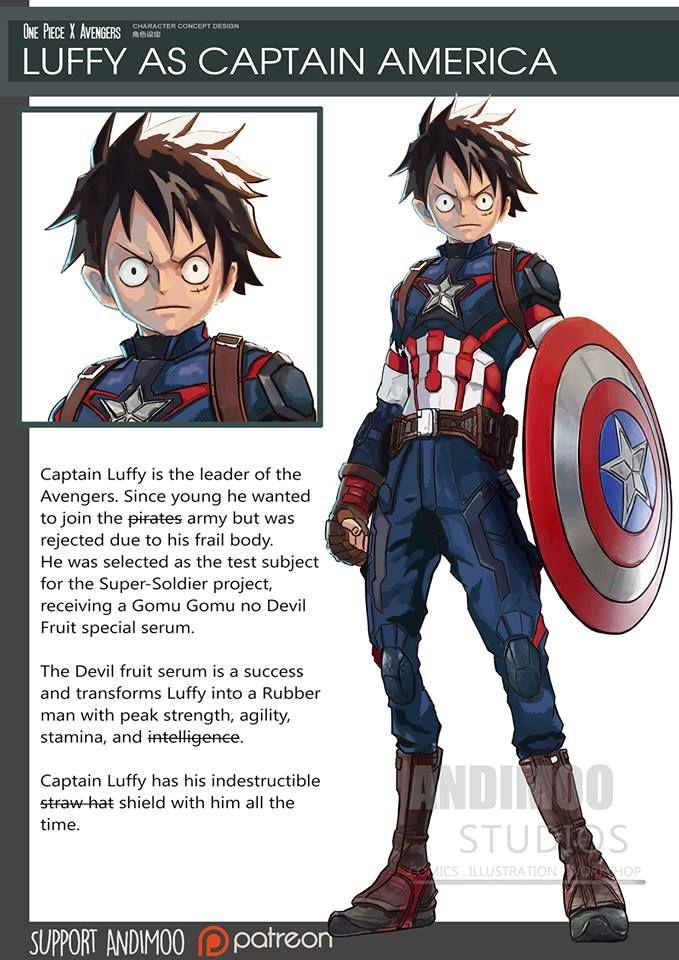 Avengers   One Piece Mashup Fan Art  468dd3df0de