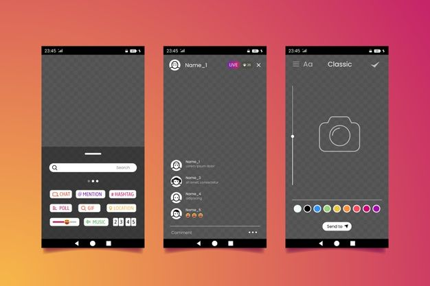 Download Instagram Stories Interface Template For Free Instagram Story Vector Free Graphic Design Background Templates
