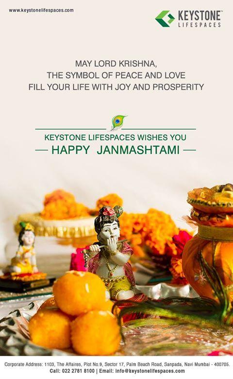 Keystone Lifespaces wishes you all a very Happy Janmashtami #Janmashtami2017 #Festival #Celebration #Occasion #Divine