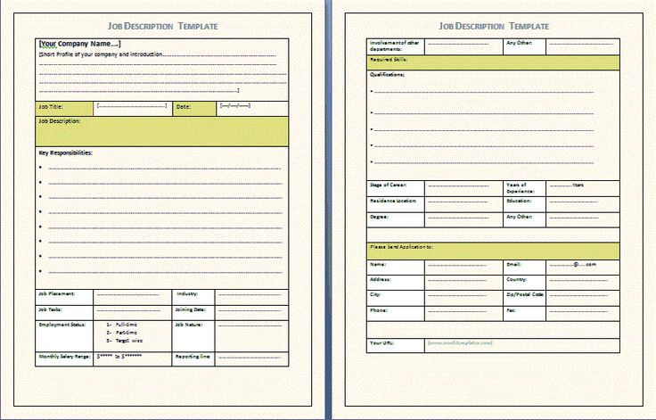 Job Expectations Template Invitation Templates