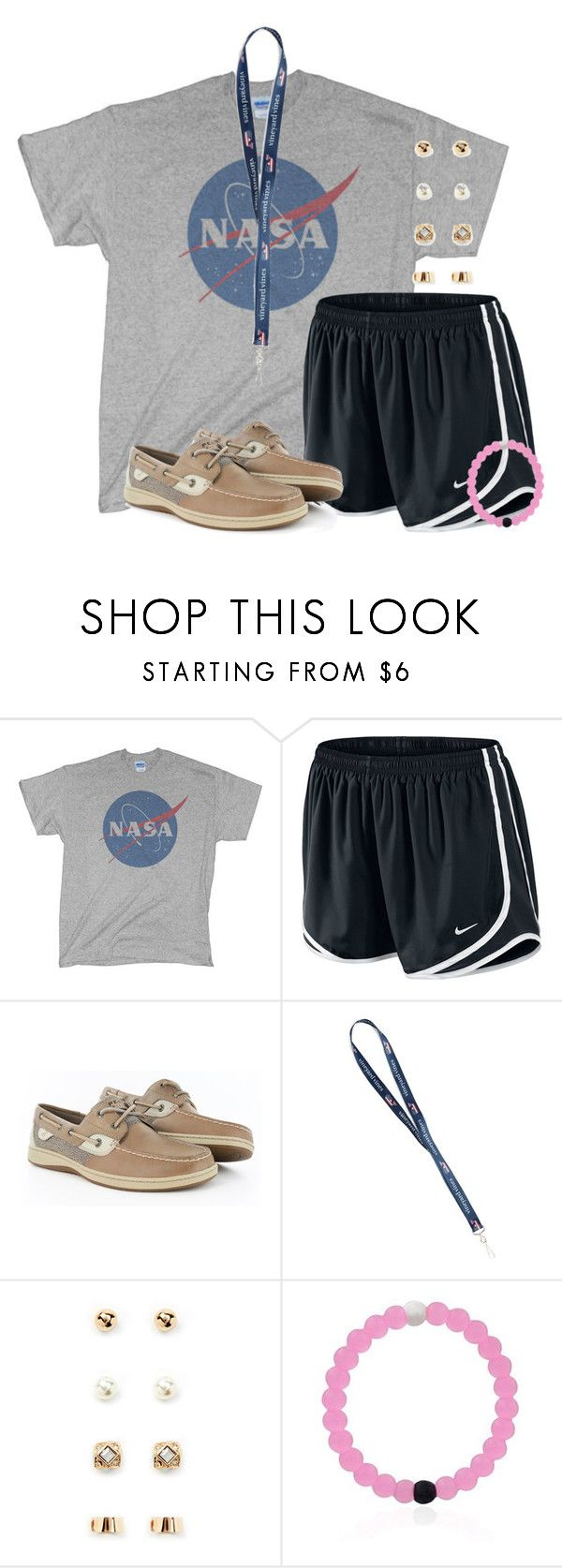 """Our first football game tomorrow!"" by flroasburn ❤ liked on Polyvore featuring NIKE, Sperry and Forever 21"
