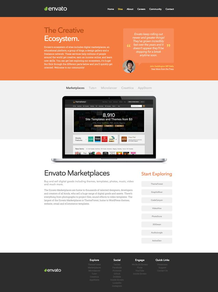 Envato web