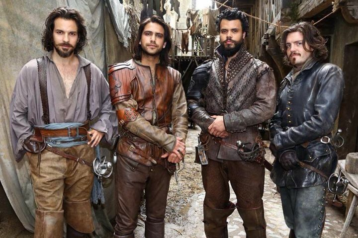 The Musketeers - Series III BtS - Okay, now everyone stand for a formal picture... Aramis wtf I said formal.