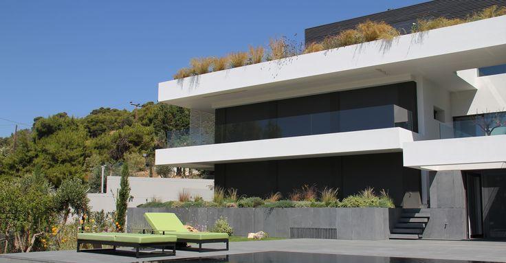 Residence in Anavyssos_Landscape design by www.greenwayshellas.com