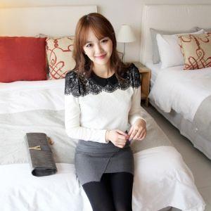 Korea Womens Luxury Shopping Mall [mimindidi] Rocco ♡ bl / Size : FREE / Price : 43.53 USD #korea #fashion #style #fashionshop #apperal #luxury #lovely #mimididi #top #blouse #lace