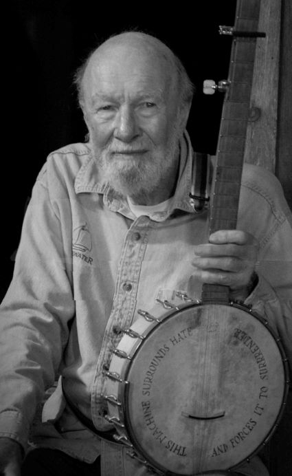 Pete Seeger, an American folk music icon has died at age 94.  Thank you, Pete!!