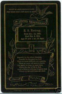 Ancestors At Rest: 1914 Funeral Card H.D. Nortrup